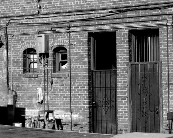 brick and gated doors bw small