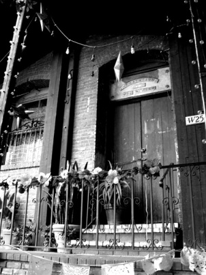 brick olvera street door bw small