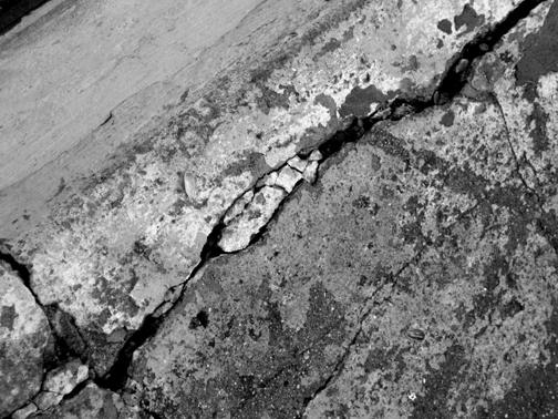 gray bw cracked concrete