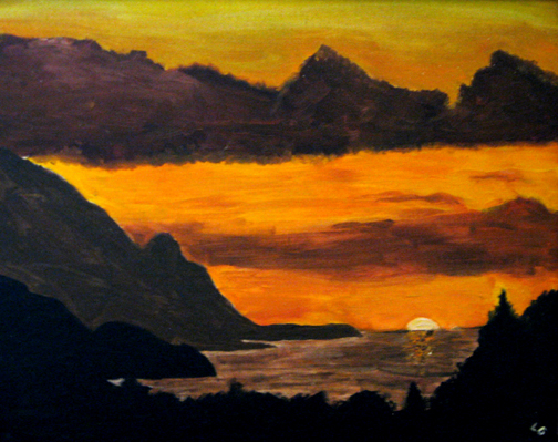 sunset painting late teens 1
