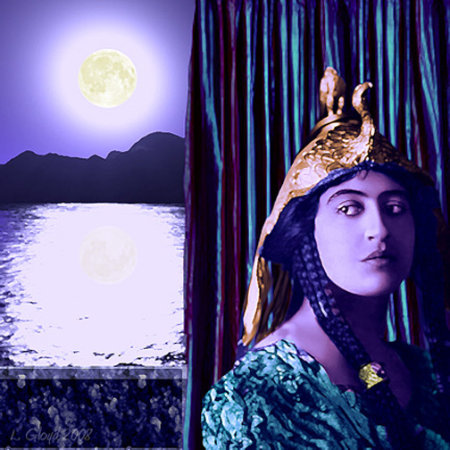 """Moon Over the Nile"" Digital assemblage of manipulated and computer generated images, 2008"