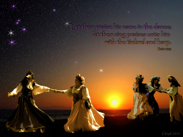 """Let Them Praise His Name in the Dance""   Composition of Original Photography and CGI Elements"