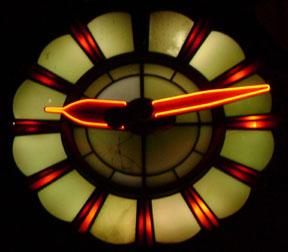 neon clock